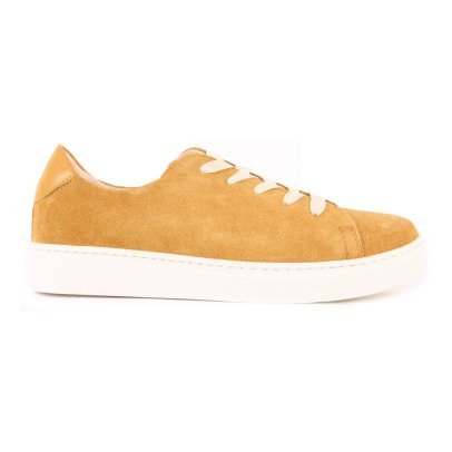 Craie Feather Past Suede Lace-Up Low Top Trainers-listing