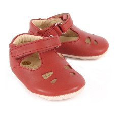Young Soles Tippi Velcro Leather Mary Janes-listing