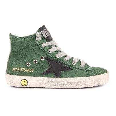 Golden Goose Francy Zip and Lace-Up Suede Trainers-listing