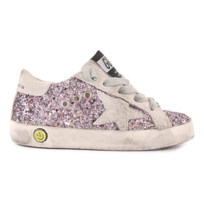 Golden Goose Superstar Glitter Lace-Up Trainers-listing