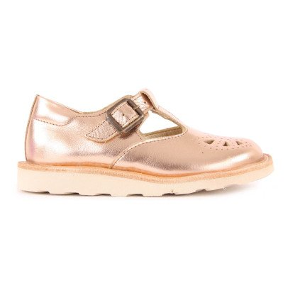 Young Soles Rosie Iridescent Leather Mary Janes-listing