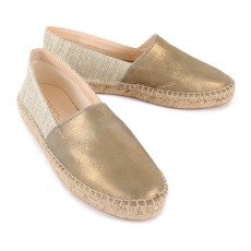 Craie Lurex Zoom Leather and Canvas Espadrilles-product