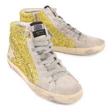 Golden Goose Slide Glitter Zip and Lace-Up Trainers-listing