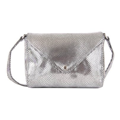 Petite Mendigote Flo Leather Shoulder Pouch-listing