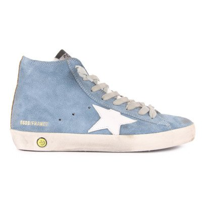 Golden Goose Francy Suede Zip and Lace-Up Trainers-listing