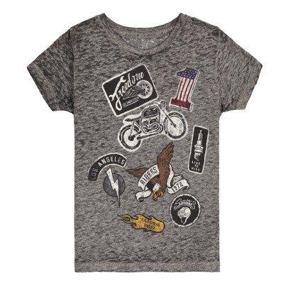 Californian Vintage Moto Cotton Burnout T-Shirt-listing