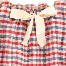 Babe & Tess Bow Checked Linen Bloomers-listing