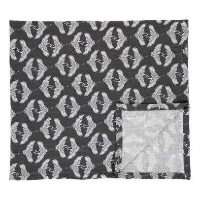 Moumout Cotton Muslin Heron Swaddle 120x120cm-listing