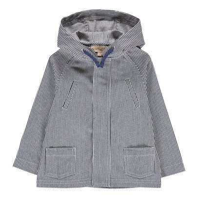 Lab - La Petite Collection Stripe Hooded Parka-listing