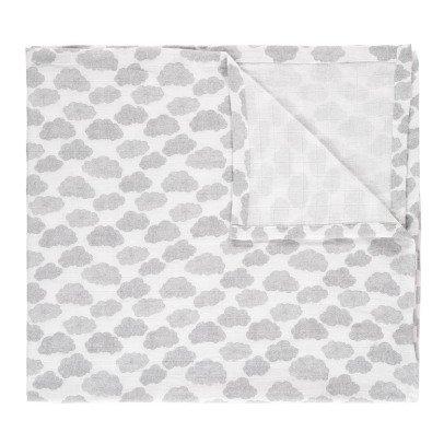 Moumout Lange-plaid en mousseline de coton 120x120 cm Nuages-listing