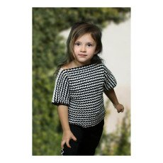 Cataleya 100% Organic Cotton Short Sleeved Striped Crochet Jumper-listing