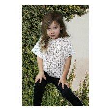 Cataleya Kurzarm Pullover aus Bio-Baumwolle Sterne -listing