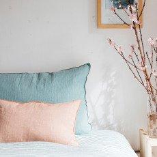 Maison de vacances Cojín viceversa lino lavado arrugado Melón esmerilado-listing