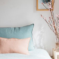 Maison de vacances Melon Washed Linen Vice Versa Cushion-listing