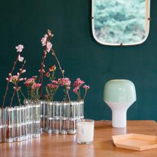 Cousu de fil blanc Vela madera de rosa, incienso hibisco 180 g-listing