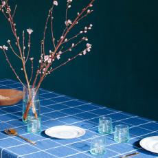 Linge Particulier Mantel en lino lavado Tartan-listing