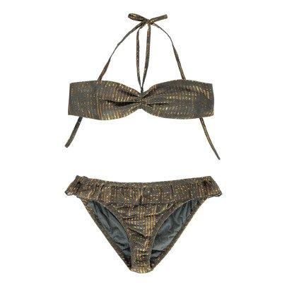 Polder Porto Striped Lurex Cotton 2 Piece Swimsuit-listing