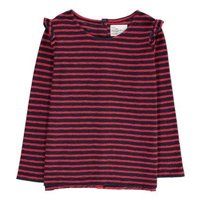 Leon & Harper Tristan Striped Ruffle T-Shirt-listing