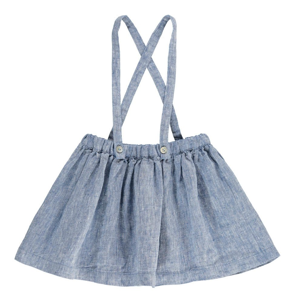 Button-Up Skirt with Braces-product