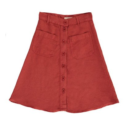 Sessun Song Button Up Skirt-listing