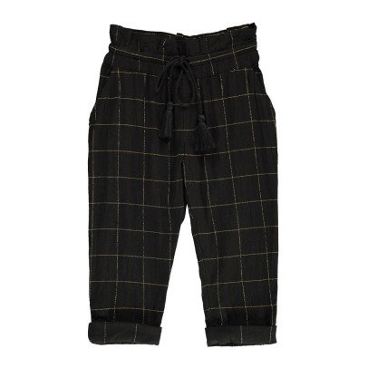 Polder Girl Bloom Lurex Checked Trousers-product