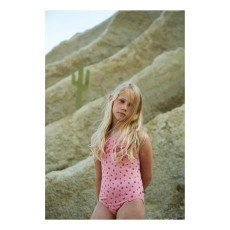 Oeuf NYC Strawberry Ruffled 1 Piece Swimsuit-listing