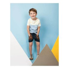 Blune Kids Superpower Star Striped T-Shirt-listing