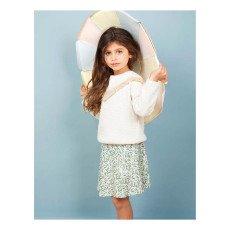 Blune Kids Belle Star Fringe Quilted Sweatshirt-product