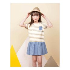 Blune Kids All That Glitters Lurex Striped Dress-listing