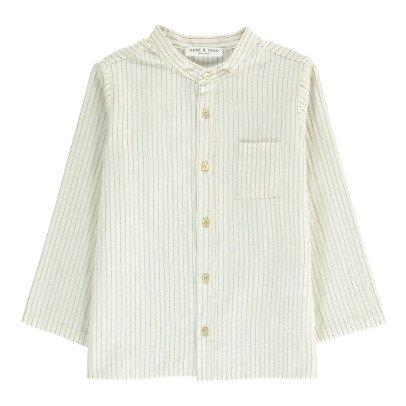 Babe & Tess Camisa Cuello Mao Rayas -listing