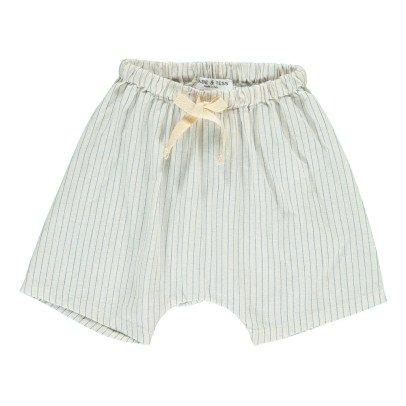 Babe & Tess Striped Harem Shorts-listing