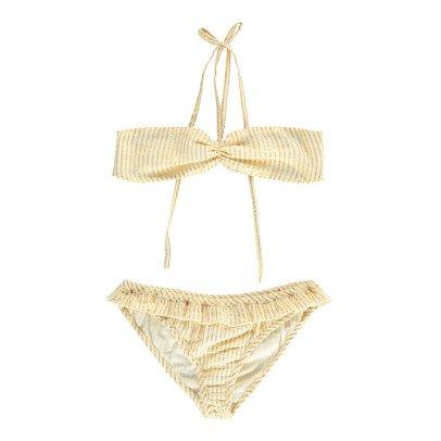 Polder Porto Striped Lurex Cotton 2 Piece Swimsuit-product