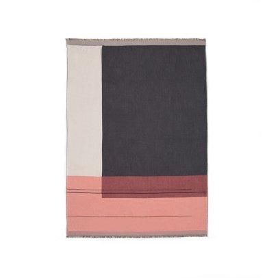 Ferm Living Couverture Colour Block en coton 180x130 cm-listing