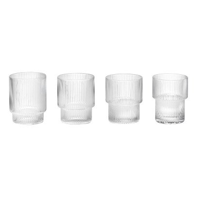 Ferm Living Ripple Glasses - Set of 4-product