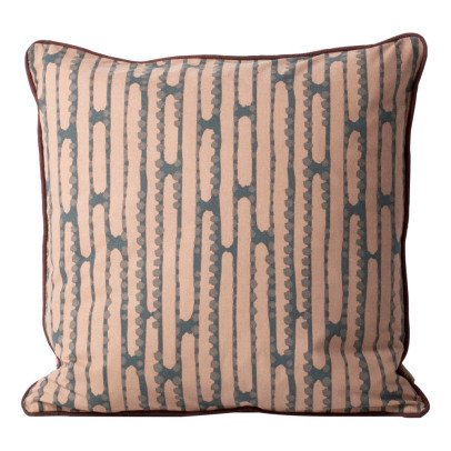 Ferm Living Aligned Organic Cotton Cushion With Removable Cover-listing