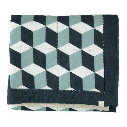 Camomile London Block Print Blanket 85x110cm-listing