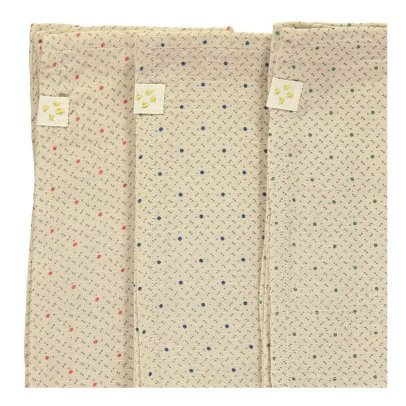 Camomile London Serviettes en gaze de coton - Set de 3-listing
