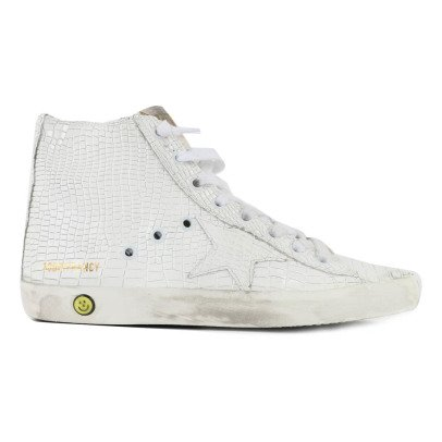 Golden Goose Francy Snake Zip and Lace-Up Trainers-listing