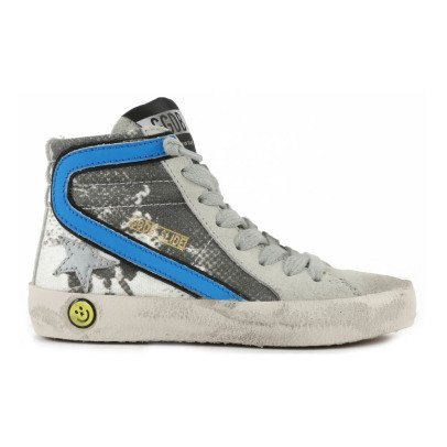 Golden Goose Surfer Slide Printed Zip and Lace-Up Trainers-listing