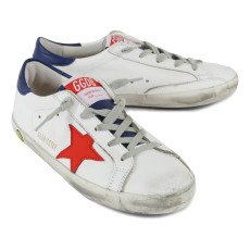 Golden Goose Baskets Basses Lacets Cuir Tricolore Superstar-listing