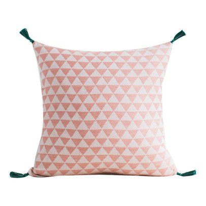 Jamini Alice Cotton Square Cushion with Removable Cover-product