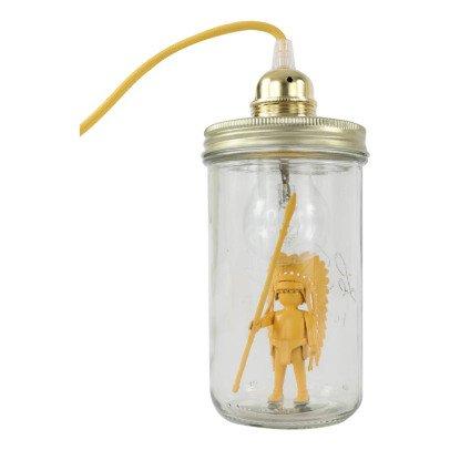 La tête dans le bocal Lampe bocal à poser chef indien-listing