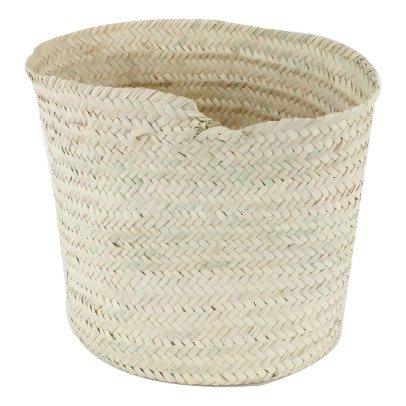 Smallable Home runder Korb aus geflochtenen Palmenblättern-listing