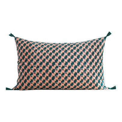 Jamini Daphne Cotton Rectangular Cushion with Removable Cover-product