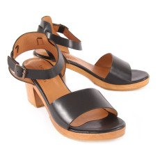Anthology Paris Zoe Wooden Heel Leather Sandals-listing