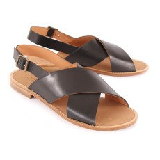 Anthology Paris Birmanie Crossed Leather Sandals-listing