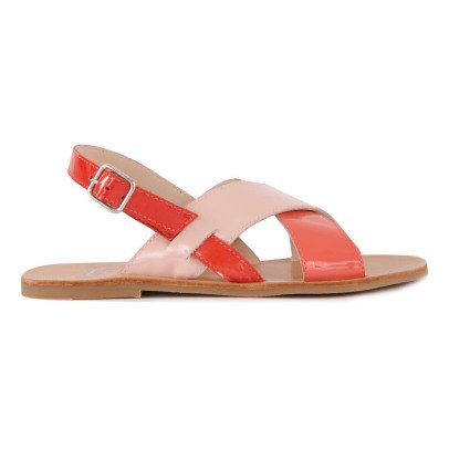 Manuela de Juan  Laura Crossed Leather Sandals-listing