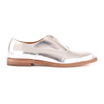 Anthology Paris Elvie Iridescent Leather Moccasins-listing