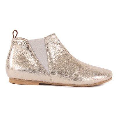 Manuela de Juan  Eloise Iridescent Leather Ankle Boots-listing