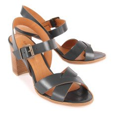 Anthology Paris Aline Leather Heeled Sandals-listing